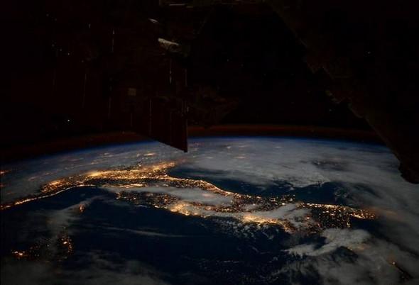 L'Italie la nuit.