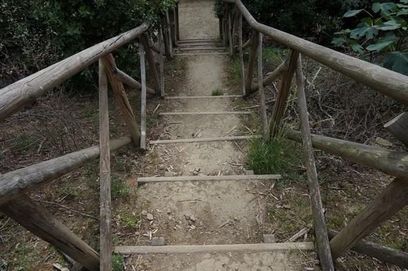 Escalier entre la via panoramica del Mulino et la viale Marchesa Isabella.Essai de composition 01. © Dinu Wilmotte