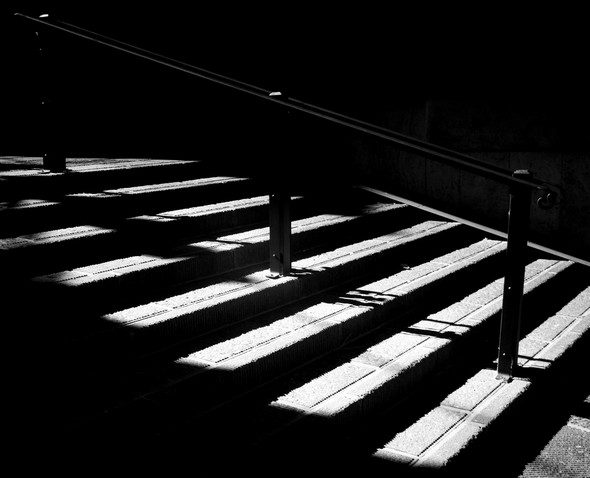 Rue traversière en escalier.