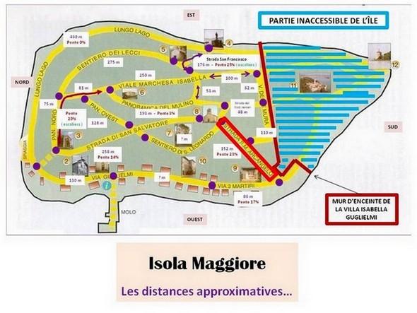 La strada di San Michele Arcangelo est encadrée en rouge vif...