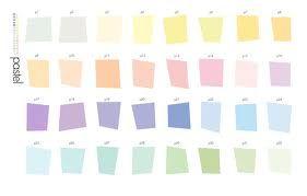 Palette de couleurs pastel.