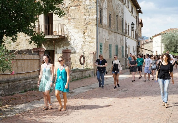 Après le bar de Silvia, au fond de la photo, le palazzo Benini Perla.