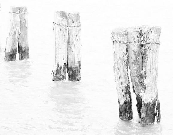 Pieux du débarcadère de Tuoro.15 avril 2014.
