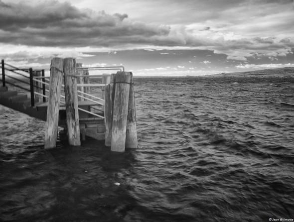 Une passerelle du pontile de l'Isola Maggiore.