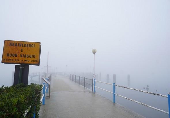 Le pontile des traghetti à l'Isola Maggiore.