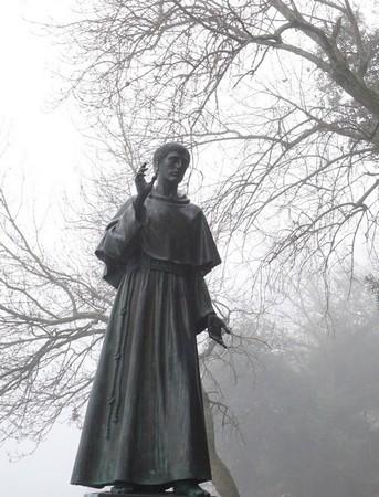 Statue de saint François d'Assise crée en 1979 par le sculpteur Sisto Zanetti