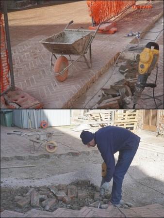 Ripresa dei lavori di restauro della pavimentazione di via Guglielmi.
