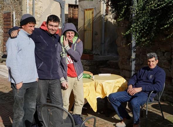 Il gruppo degli operai all'Isola Maggiore.19 janvier 2016.