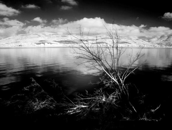 Vue sur le lac Trasimène depuis le lungolago.Isola Maggiore.