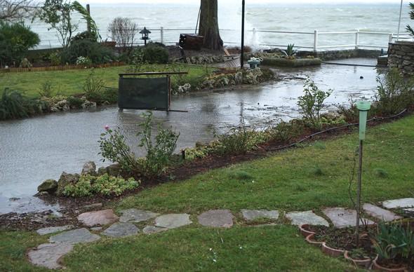 """Le """"bassin d'orage"""" de notre jardin a de nouveau bien rempli sa fonction de protection !"""