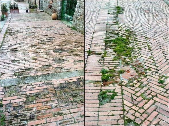 Etat antérieur du pavement de la via Guglielmi !8 mars 2011