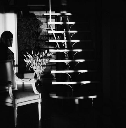 """Effet direct du coucher à l'extrémité """"est"""" de notre grand hall.19/03/2016   -   début de soirée."""