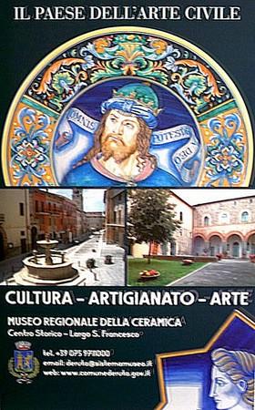 Affiche trônant dans le hall d'accueil de l'aéroport international de l'Ombrie, dit aussi de Pérouse-Sant'Egidio.