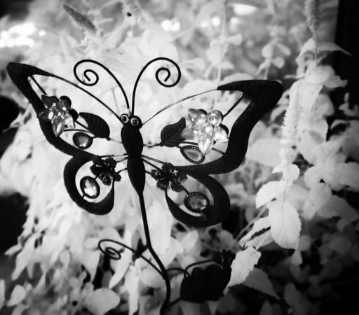 Une des innombrables décorations du jardin de Fabienne...