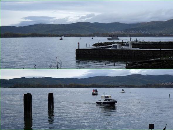 Secondo la tradizione, una piccola flottiglia di barche dell'Isola incornicia la barca di vettore della bara.