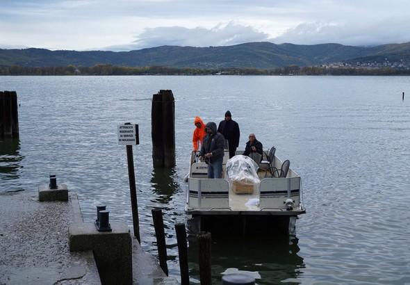 """Edoardo Silvi ha assicurato la traversata sulla sua barca """"L'Oso""""."""