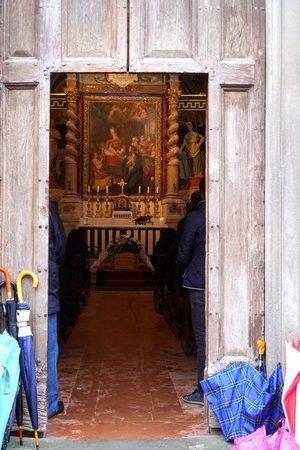 La messa fu detta nella Chiesa del Buon Gesù.Via Guglielmi.Isola Maggiore.