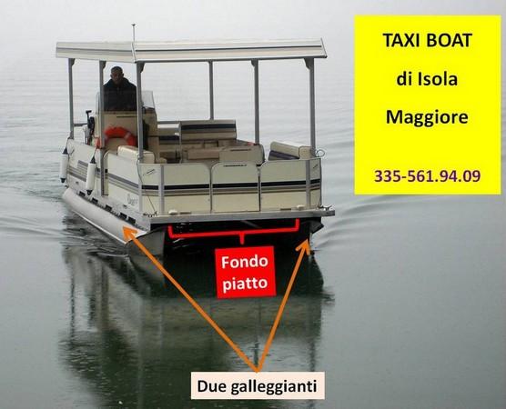 Taxi Boat de l'Isola Maggiore.Proprietario e pilota : Maurizio Bellaveglia.