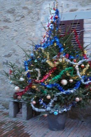 L'albero di Natale da Cristiano.Quindi è il momento di presentarvi qui sotto alcune immagini di questo altro volto della via Guglielmi per coloro che non hanno avuto l'opportunità di vedere.Per me, il più riuscito !