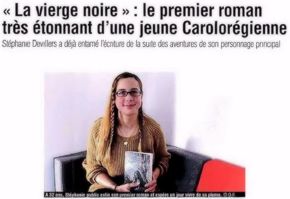 Article de La Nouvelle Gazette - édition de Charleroi (Belgique).14/12/2015