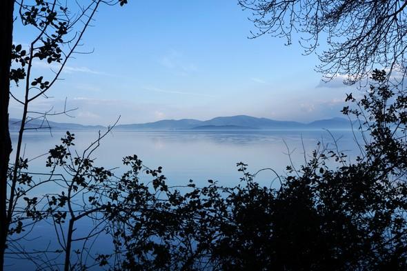Belle vue de l' Isola Povese dans un cadre végétal naturel.