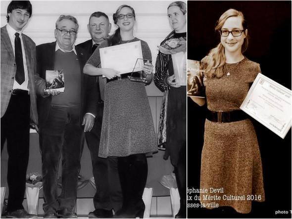 Remise du Prix du Mérite culturelà Stéphanie Devillers.Fosses-la-Ville.22 décembre 2016