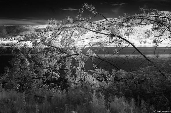 Vue sur une partie de Tuoro et sur la rive nord du lac Trasimène.30/06/2016