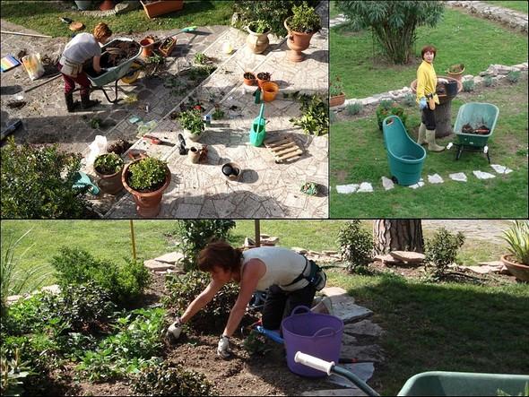 Entrée en action de la magicienne des fleurs et jardins !