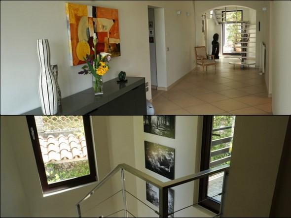 L'escalier interne constitue un vrai puits de lumière dans toute la maison.