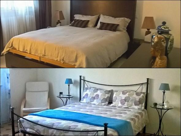 Deux des chambres à coucher.