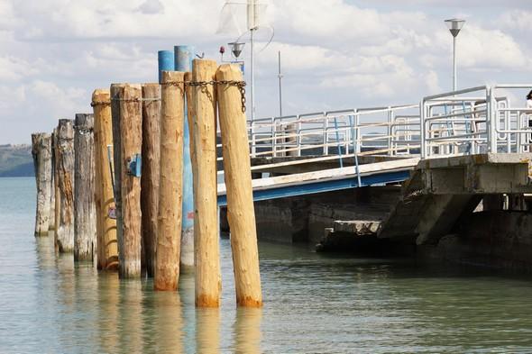 Résultat final à Tuoro-Navaccia. Embarcadère latéral (nord).Vue de profil.