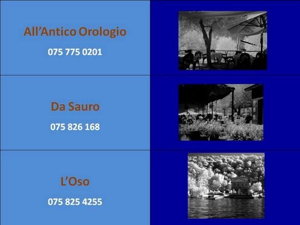 I tre ristoranti che partecipano all'avvenimento.