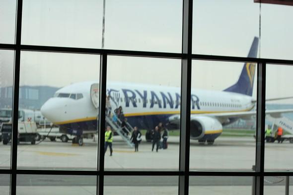 Aéroport San Egidio, Perugia.Arrivée du vol Bruxelles-Sud-Charleroi.2/04/2016