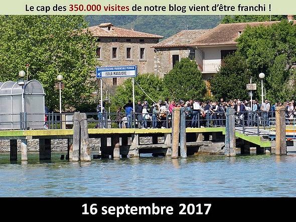"""Arrivée de visiteurs sur le débarcadère de l'Isola Maggiore.Photo prise le 18 avril 2017 (Pasquetta ou """"Lunedi dell'Angelo"""".- Lundi de Pâques)"""