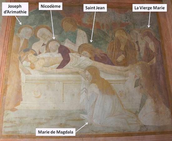 """Mise en place d'un modèle de la """"Mise au tombeau"""" à partir du XIII° siècle."""