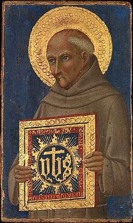 San Bernardino.Par Sano di Pietro.Vers 1460-1470)