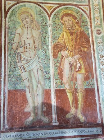 Saint Sébastien et saint Roch.