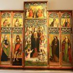 Cliquez sur la vignette pour voir l'entièreté de ce polyptique.La représentation de sainte Lucie est dans le quadrant supérieur droit.