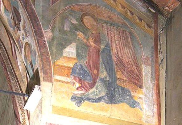 """La Vierge """"annoncée""""."""
