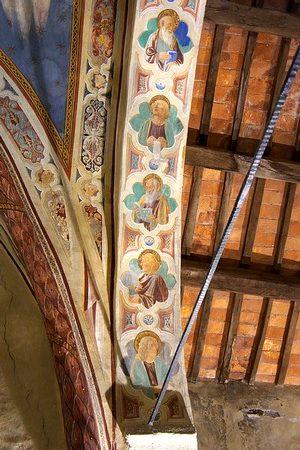 Cinq des six  Apôtres à la gauche du Christ.( à sa gauche ).