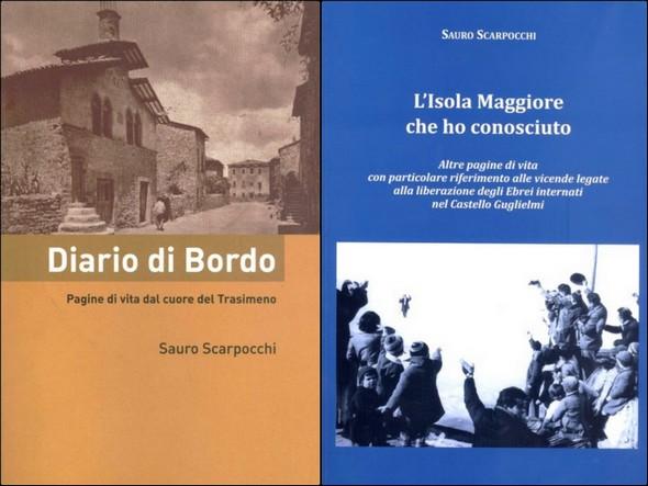"""Primo libro : """"Diario di Bordo"""" - 2006.Secondo libro : """"L'Isola Maggiore che ho conosciuto"""" - 2008."""