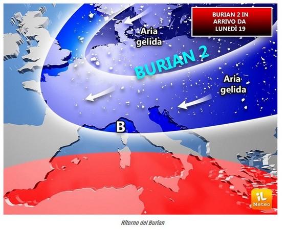 Retour du Burian annoncé le 12 mars par la météo italienne...