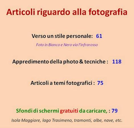 Crescente importanza del settore FOTO nel nostro blog.