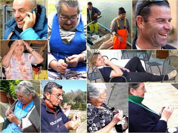 Quasi tutti i membri della piccola comunità di isolani che vivono continuamente sull'Isola Maggiore.